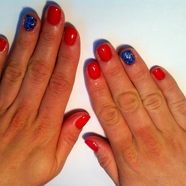 Late Night Nail Art Quick Easy Patriotic Mani: 17 Best Images About 4th Of July On Pinterest