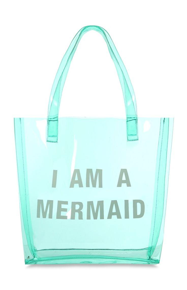 Blauwe strandtas I Am A Mermaid