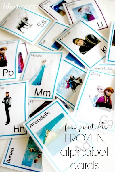 These FREE printable frozen alphabet cards are an easy way for your student to learn their ABCs while having fun!