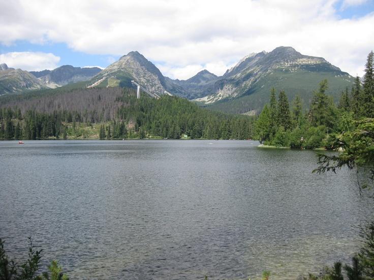 Tatry, Slovensko... I walked over this lake while frozen!!