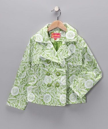 Take a look at this Green Marbella Swing Coat - Toddler & Girls  by Dollhouse on #zulily today!: Dollhouses Green, Swings Coats, Military Coats, Girls Generation, Kids Stuff, Marbella Swings, Toddlers Girls, Baby Girls, Green Marbella