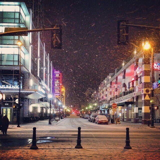 Downtown Boise, Idaho. Winter Wonderland.
