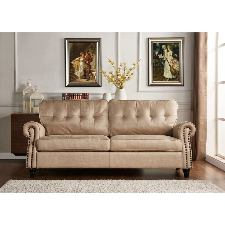 Handy Living Victoria SoFast Sofa in Distressed
