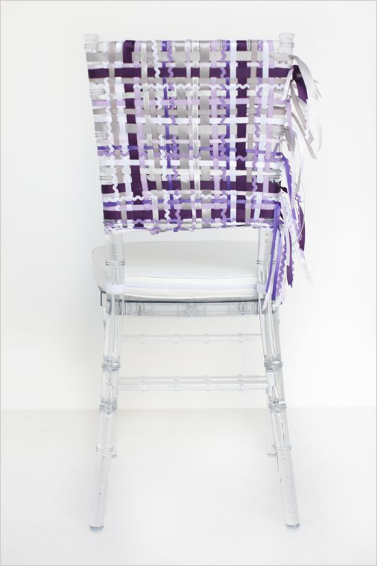 woven DIY purple wedding chair