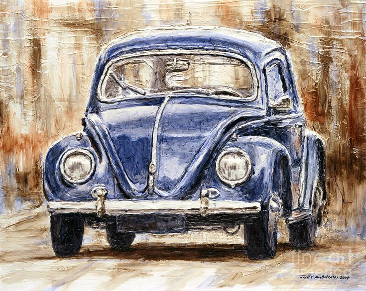 Volkswagen Painting - 1960 Volkswagen Beetle by Joey Agbayani