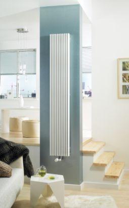 Jaga Iguana Aplano Vertical Decorative Radiator White, (W)410 x (H)1800mm, 5050753000357