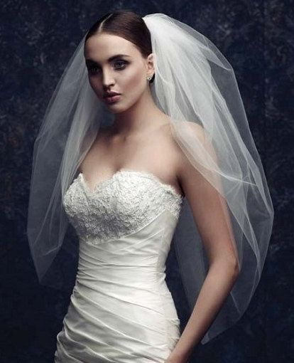 Bridal Veil wedding veilveil Double Layer Veil Wedding headdress. #Etsy #Share…