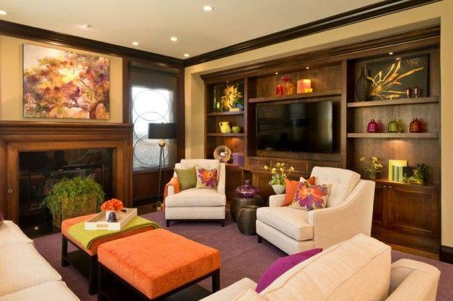 Уютная гостиная с ярким настроением