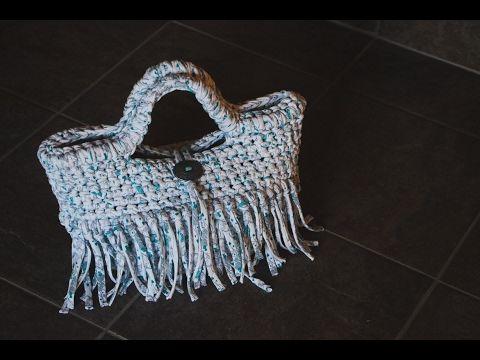 ズパゲッティ・Tシャツヤーンで編む人気のバッグ!編み方動画を紹介するよ☆   Handful