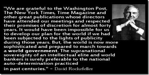 1991 – David Rockefeller ringrazia i media per avere tenuto nascosto il piano di creare un Nuovo Ordine Mondiale Nel Giugno 1991 i leaders mondiali si incontrano per un'altra riunione a porte chius...