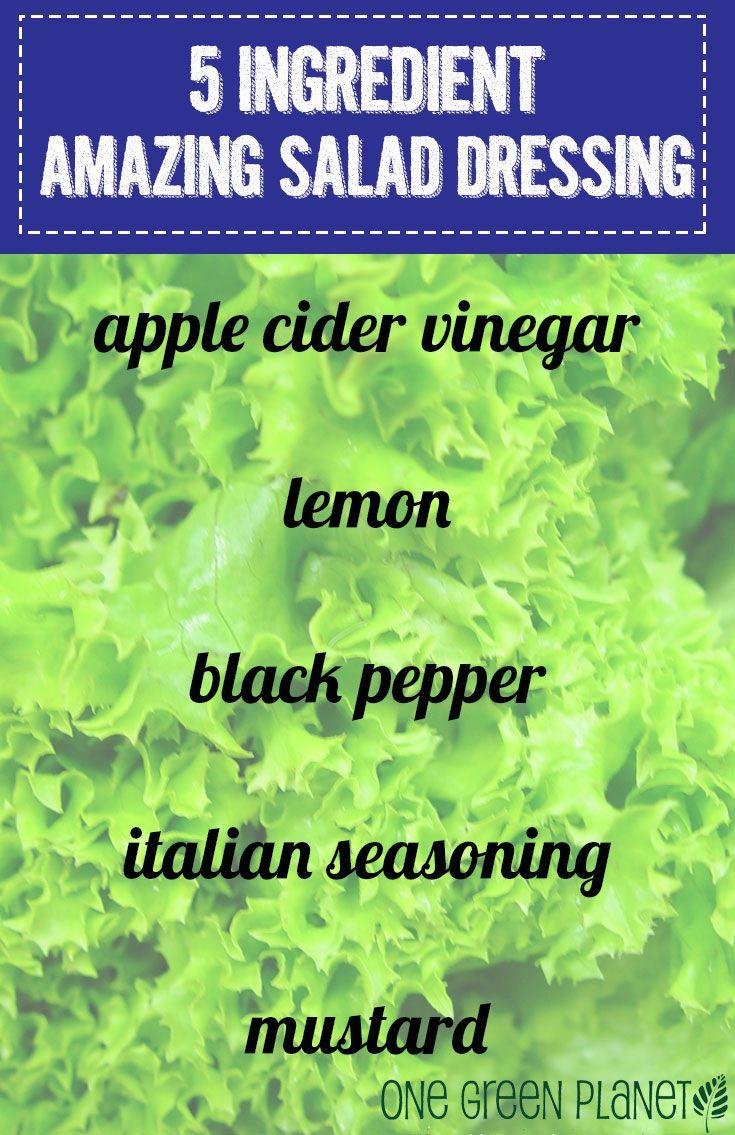 5 Ingredients that Make an Amazing Vegan Salad Dressing onegr.pl/VnWqlx #recipe #easy #diy