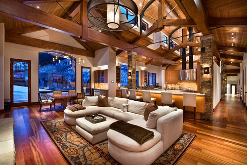Jigsaw Ranch - traditional - family room - other metro - by Charles Cunniffe Architects Aspen