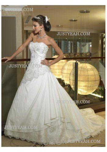 Beach luxury fashionable Strapless Wedding Dresses 2016