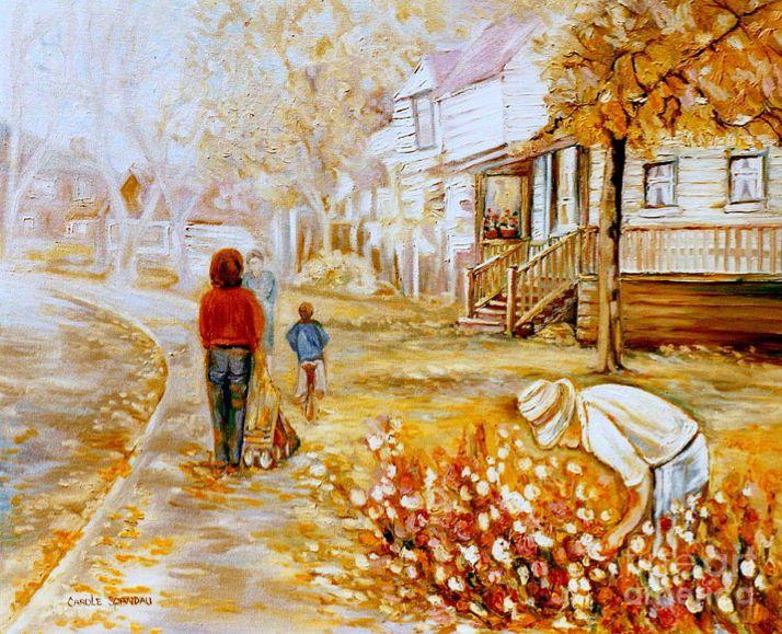 "Carole Spandau, ""Montreal City And Street Scene"" 2012- oil on canvas"