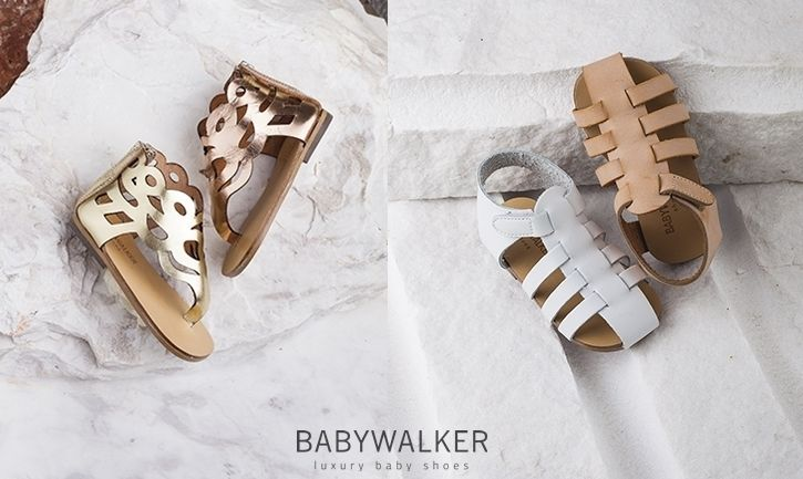 BABYWALKER SHOES ON THE MARMORS.. Natural, white, bronze and gold!
