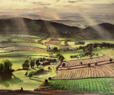 "Laura Knight (1877-1970), ""Valley at Evening"""