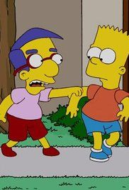The Simpsons Season 6 Episode 19. Bart meets the boy responsible for the greatest prank in Springfield Elementary School history, and discovers that he's now a 19-year-old loser. Meanwhile, Marge is scolded for providing unhealthy snacks for Maggie's play group.
