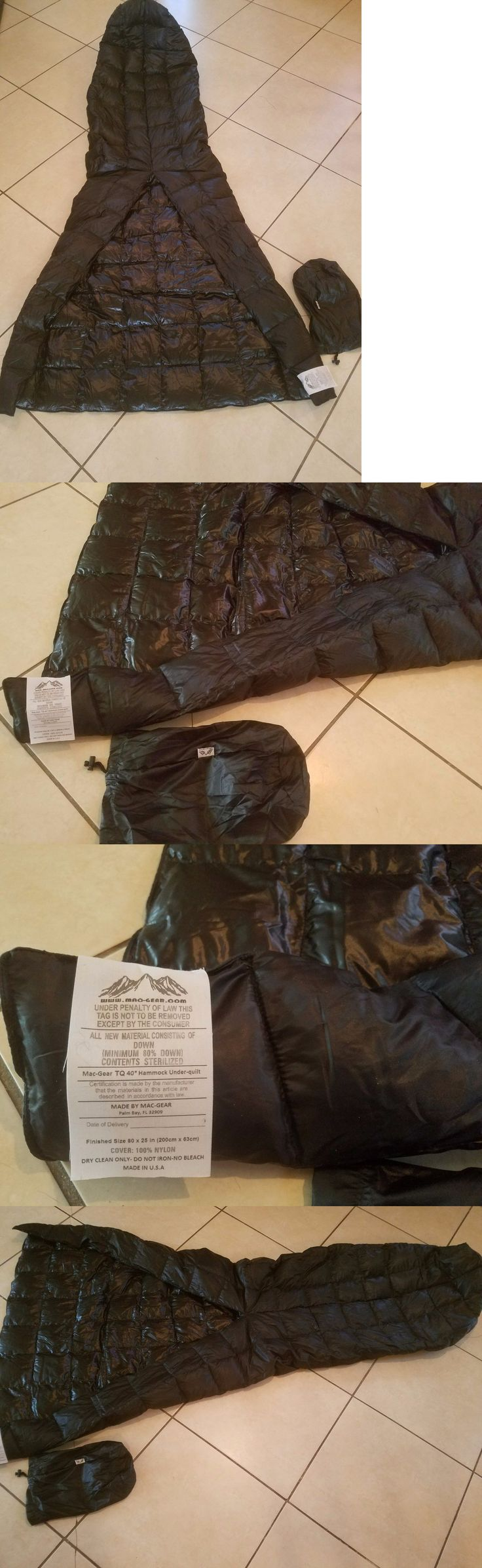 Sleeping Bags 87100: New 40* Down Top Quilt 15 Oz Ultralight Hammock Camping Backpacking Sleeping Bag BUY IT NOW ONLY: $75.0