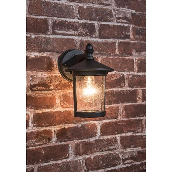 Project Source 2 Pack 8 78 In H Black Medium Base E 26 Outdoor Wall Light Lowes Com In 2020 Outdoor Wall Lighting Wall Lights Outdoor Walls