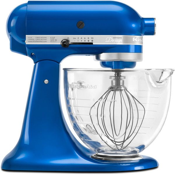 KitchenAid KSM155GBEB Electric Blue 5-quart Artisan Design Tilt-head... (6,590 MXN) ❤ liked on Polyvore featuring home, kitchen & dining, small appliances, blue, kitchenaid small appliances, kitchenaid, kitchenaid stand mixer, kitchen aid stand mixers and kitchen aid small appliances