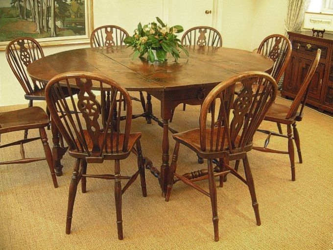 8 Seater Gateleg Table   Eight Seater Gateleg Table   Oak Dining Room    Country Chairs100 best Oak Dining Tables  Reproduction images on Pinterest  . Reproduction Dining Tables. Home Design Ideas