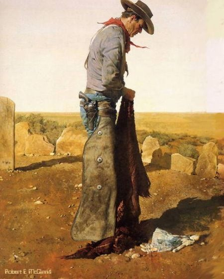 Robert McGinnis - John Wayne, The Searchers  - lllustrations