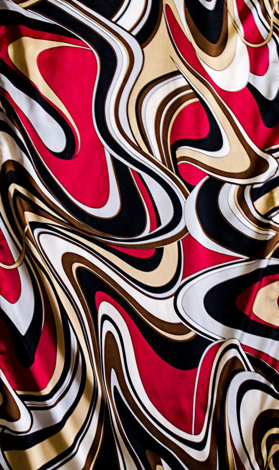 Red Pucci Pucci scarf Gucci black white and by riversidedriveDTLA