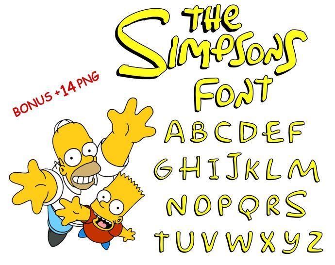 Simpsons Bundle Simpsons Installable Font Simpsons Font Svg Simpsons Clipart Png Instant Download Estilos De Letras Ranas Dibujos Fiesta De Simpsons