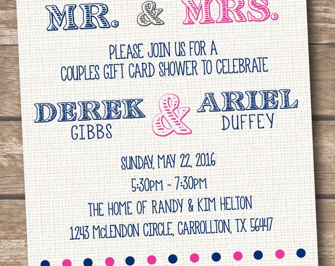 Gift Card Wedding Shower Invitation Wording: Best 25+ Couple Wedding Showers Ideas On Pinterest