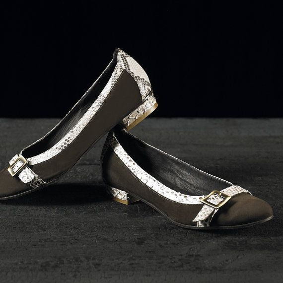 Ballerina Shoes handmade In Italy Hand Made and Tailor Made in Italy in genuine Python Skin