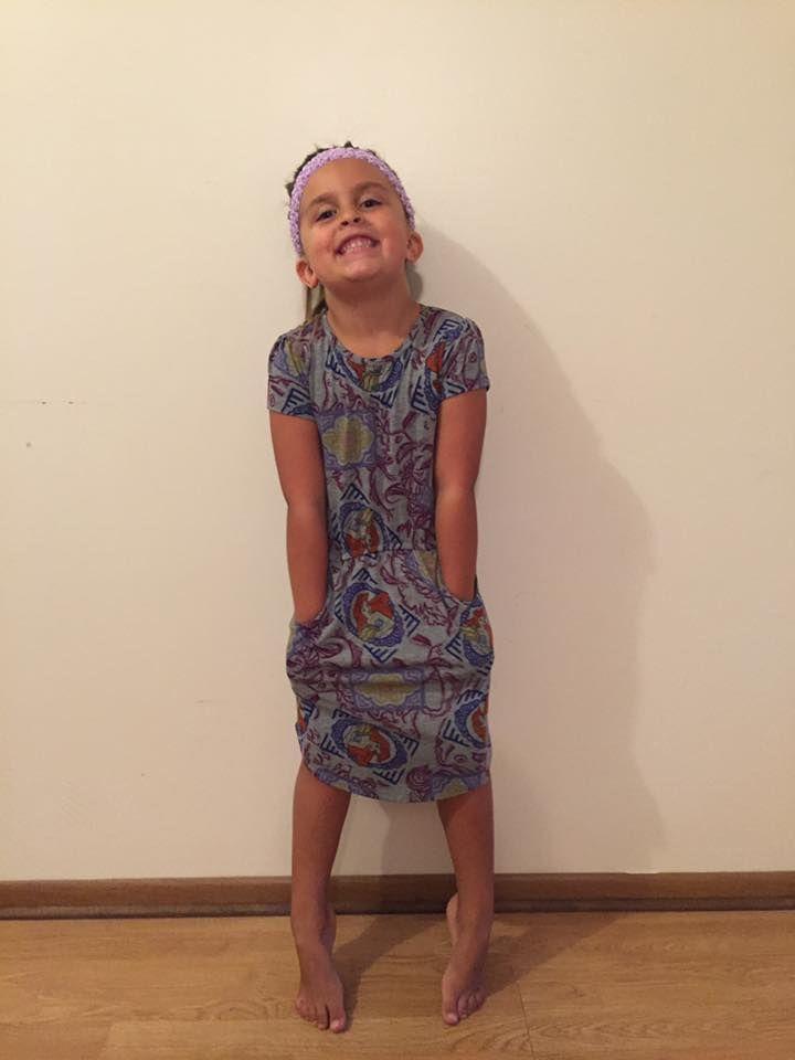 The LulaRoe Mae is a perfect little-girl's dress! More at LulaRoe Brandi McClure https://www.facebook.com/groups/LuLaRoeBrandiMcClure/