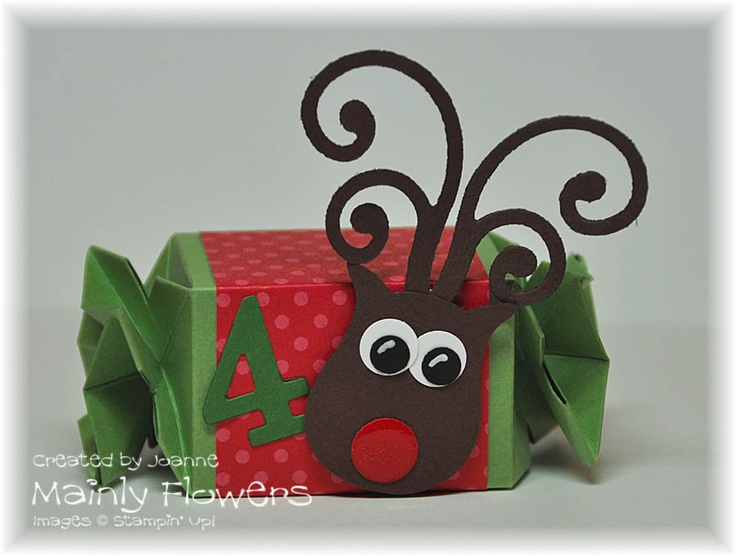 Mainly Flowers Independent Stampin' Up! Demonstrator Joanne Gelnar: Candy Wrapper Advent Calendar # 4 & 5