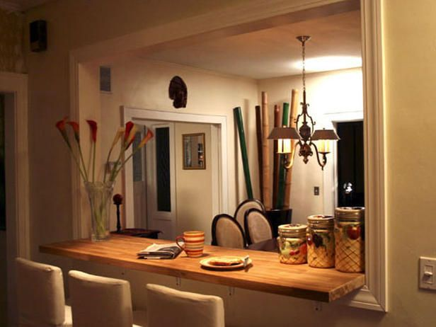 Remodel your kitchen with a breakfast bar pass through for Breakfast bar ideas for small kitchens