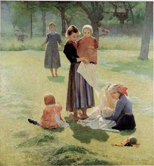 Giuseppe Pellizza da Volpedo (1868-1907). Italian painter. -Mammine