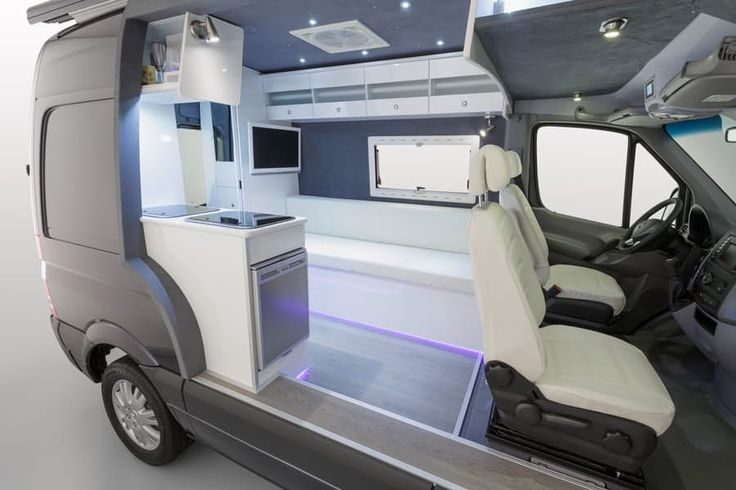 Mercedes' Sprinter camper concept has a vibrant look thanks to its white interior and LED lighting...