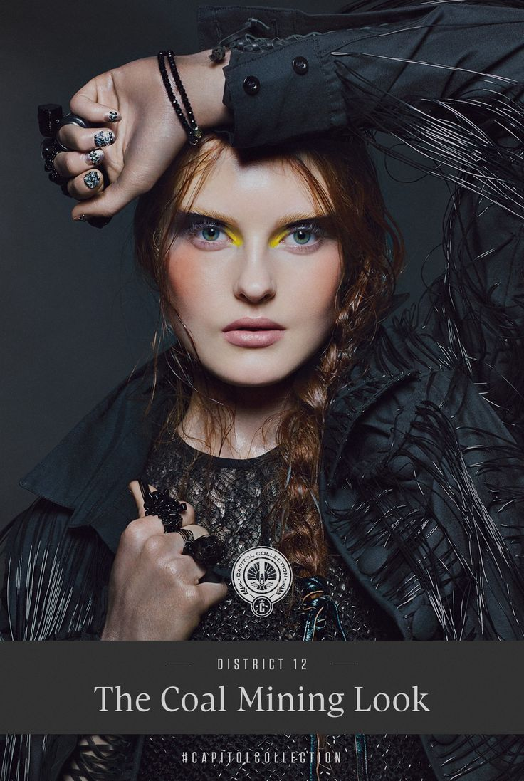 Your first glimpse at @COVERGIRL upcoming #CapitolCOVERGIRL collection - An avant-garde look inspired by #District12's coal mines! - http://capitolcouture.pn/post/59117454018/exclusive-district-beauty-12-look-the-precious