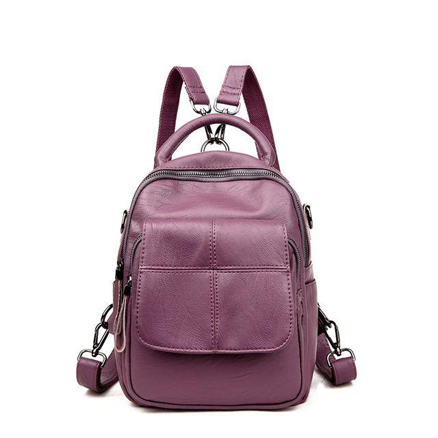 Плед Женщины Натуральная кожа Рюкзак Anti Theft рюкзаки для девочек подростков школьная сумка женский черный Mochilas SAC DOS купить на AliExpress