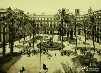 Placa Reial from the 19th century.