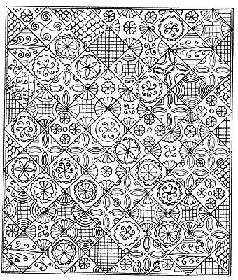 Welsh quilt pattern