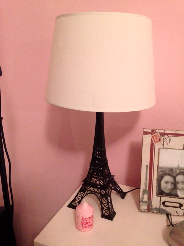 Eiffel Tower lamp, one of my favourite items in my Parisian style bedroom, from The Range