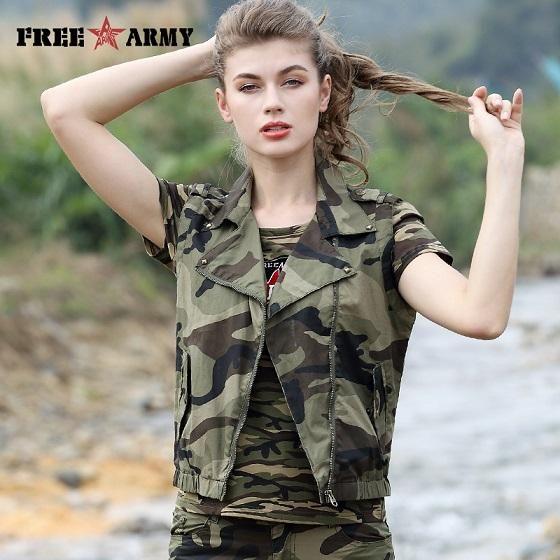 Free Army Fashion Women's Vest Waistcoat