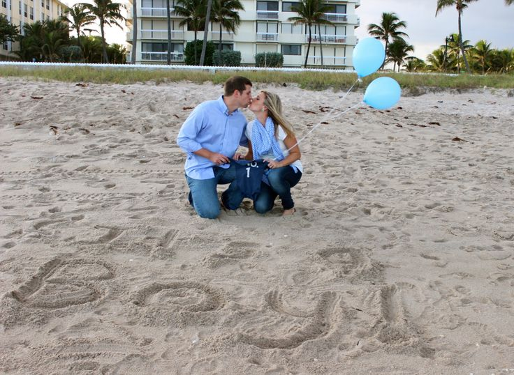 Our gender reveal pics at West Palm Beach