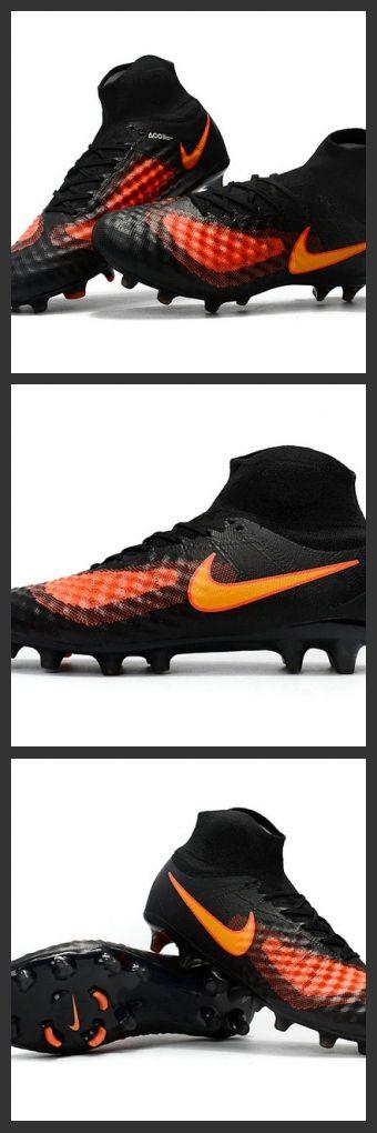 hot sale online 665ec 1f5ff ... la nike magista obra 2 fg scarpette da calcio uomo nero arancione  configurazione dei tacchetti delle