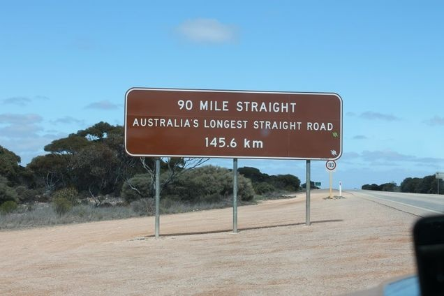 Longest Straight road in Australia. Would take just over an hour to complete.