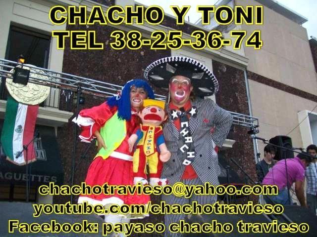 PAYASOS GUADALAJARA CHACHO Y LA PAYASITA TONI  TENEMOS VARIOS PAQUETES:1- TELEGRAMA SORPRESA DE 15 MINUTOS2-SHOW DE UNA HORA:CON CHISTES, ...  http://guadalajara-city-2.evisos.com.mx/payasos-en-guadalajara-chacho-travieso-y-la-payasita-id-544681