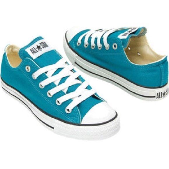 Teal Converse women's size 7 Teal converse, women's 7 men's 5 Converse Shoes Sneakers