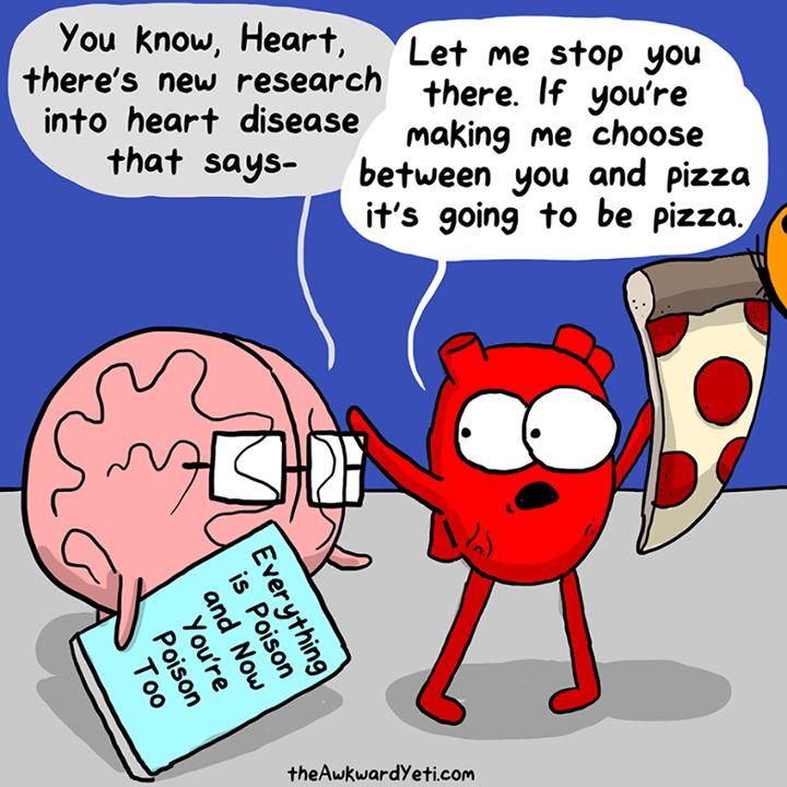 Some Monday morning humor for you. These Heart and Brain comics are hilarious and capture my inner dialogue so perfectly .