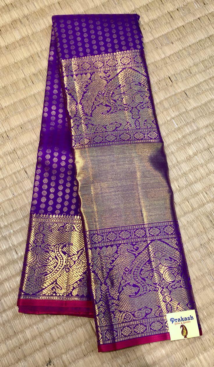 Traditional big border saree from prakashsilks.