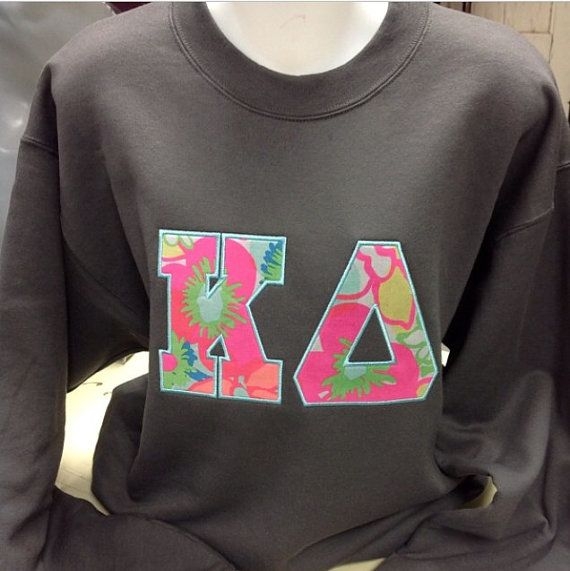 "https://www.etsy.com/listing/239562627/sorority-letters-sweatshirt-with-6-vera Custom Sorority Letter Sweatshirts with 6"" Vera Bradley Fabric"