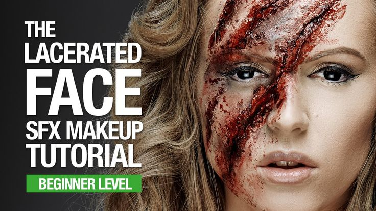 The lacerated face sfx makeup tutorial